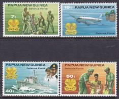 Papua New Guinea 1981 Defence Force  Sc 536-39 Mint Never Hinged - Papua New Guinea