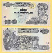 Bolivia 10 Bolivianos P-new Series J UNC - Bolivia