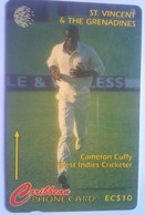 St Vincent 142CSVD Cameron Cuffy, Cricket $10 - St. Vincent & The Grenadines