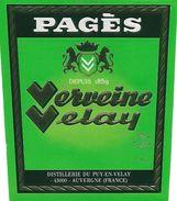 ETIQUETTES De Spiritueux.  Verveine Velay. PAGES.  150cl. ..C378 - Other