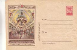 Russie - Entier Postal Illustré Années 53 / 57 - Métro De Moscou - 1923-1991 URSS