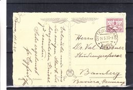 Vatican - Carte Postale De 1930 - Oblit Citta Del Vaticano - Exp Vers Bamberg En Allemagne - Vue Du Collossee - Lettres & Documents