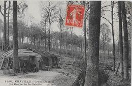 CHAVILLE - Dans Les Bois, La Coupe De La Calotte  Anno 1912 - Boulogne Billancourt