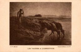 J.-F. MILLET LES VACHES A L'ABREUVOIR - Vaches