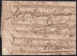 """1674. AMSTERDAM TO MADRID. SPECTACULAR WAXSEAL ON REVERSE AND """"FERMETURE AU CORDONNET"""". RARE AN UNSUAL. - ...-1852 Voorlopers"""