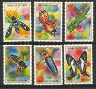 Guinée (république), Yvert 494/499, Scott 636/641, MNH - Guinée (1958-...)