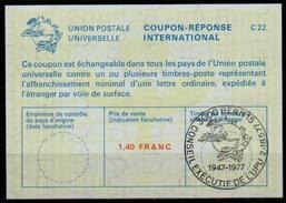 UPU BERN / WELTPOSTVEREIN International Reply Coupon Reponse Antwortschein IRC La23A 1,40 FRANC 3000 BERN Special Cancel - U.P.U.