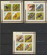Guinée (république), Yvert BF27/BF29, Scott 688a,692a,696a, MNH - Guinea (1958-...)