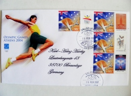 Cover Australia Olympic Games Athens 2004 Special Cancel Salisbury Animal Kangaroo Barcelona Moscow Los Angeles Seoul - 2000-09 Elizabeth II