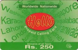 TARJETA TELEFONICA DE PAKISTAN (269) - Pakistán