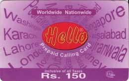 TARJETA TELEFONICA DE PAKISTAN (270) - Pakistán
