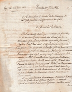 CAMPAGNE De RUSSIE - Recherche D'un DISPARU Présumé Mort à WILNA  - Versailles 1822 - - Historische Dokumente