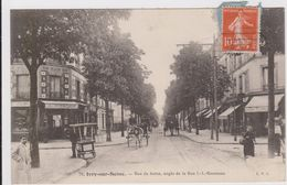 CARTE POSTALE  IVRY SUR SEINE 94  Rue De Seine,angle De La Rue J.j.Rousseau - Ivry Sur Seine