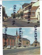 2 CPM - BRIARE (45) L'Hopital Saint Jean / Boulevard Buyser (hotel Restaurant, Voitures) - Briare
