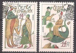 Tschechien  (1994)  Mi.Nr.  36 + 37  Gest. / Used  (4fl18)  EUROPA - Tschechische Republik