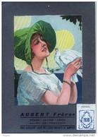 Publicité HUILES - SAVONS - CAFES - SALON De PROVENCE - AUBERT FRERES -  Illustration  +   Calendrier De 1930 TB état - Plaques En Carton