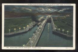 B3587 PANAMA CANAL - MIRAFLORES LOCKS BY MOONLIGHT - Panama