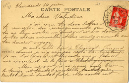 CONVOYEUR  CHATELGUYON RIOM PUY DE DOME 1933 - Postmark Collection (Covers)