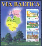 EE 1995- VIA BALTICA, ESTONIA, S/S, MNH - Gemeinschaftsausgaben