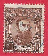 Congo Belge N°9 50c Brun (1893) 1887-94 O - 1884-1894 Precursors & Leopold II