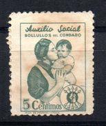 Viñeta Nº 14  Auxilio Social Bolullos Del Condado - Viñetas De La Guerra Civil