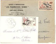 2L Avec N°314 (canoé) Et 326 (basket) Seuls Sur Lettre - TB - Réunion (1852-1975)