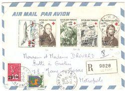 LR Affr 175F CFA (n° 362/63+370/71+342+393+PA61) De LE PORT - TB - Réunion (1852-1975)