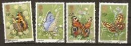 Grea Britain 1981 1151-4 Butterflies Fine Used - 1952-.... (Elizabeth II)