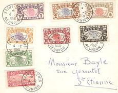 L N°56/61+85+89 Pour St Etienne - Réunion (1852-1975)