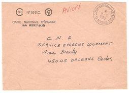 """1985 L En Franchise Cachet """"CAISSE NATIONALE D'EPARGNE - LA REUNION"""" -TB - Réunion (1852-1975)"""