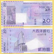 Macau Macao 20 Patacas P-81 2013 BNU Banco Nacional Ultramarino UNC - Macau