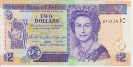 Belize 2 Dollars 2007 Pick 66c UNC - Belize