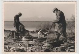 Entre Canet-Plage & St-Cyprien - Pêcheurs Réparant Filets -105x145 - ( Photo Chauvin à Canet ) - Timbrée 1965 - France