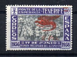 Viñeta Nº 37  Monte De La Esperanza Tenerife. - Vignettes De La Guerre Civile
