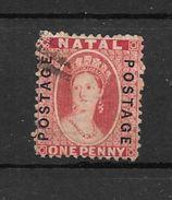 NATAL AN 1876 SURCHARGE REENVERSE YVERT TELLIER NR. 36a AVEC 2 CERTIFICATIONS D'EXPERTS AU DOS - Zuid-Afrika (...-1961)