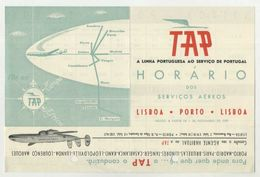 Airways, Airline Company TAP, Portuguese Airlines, Timetable  (2 Scans) - Europe