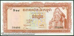 TWN - CAMBODIA 11c - 10 Riels 1962-1975 AU/UNC - Cambodia