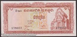TWN - CAMBODIA 11d - 10 Riels 1962-1975 AU/UNC - Cambodia