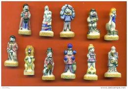 """Rare Serie Complete De 11 Feves  """"  La Piste Aux Etoiles  """" Nordia - Countries"""