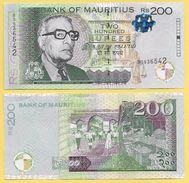 Mauritius 200 Rupees P-61 2013 UNC - Mauritius