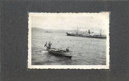 PORT DE TANGER (Maroc)- Bateau Prudential Line, Années 40,Photo Format 9 X6,3cm. - Boats