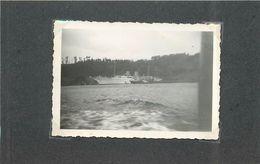 BOSPHORE (Turquie)- Yacht Turc Au Mouillage, Années 40,Photo Format 9 X5,8cm. - Barcos