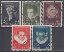 HOLANDA 1956 Nº 661/65 USADO - 1949-1980 (Juliana)
