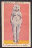Poupée Egyptienne Ancienne Chromos Card Les Poupées De Werkende Bie Poperinghe - Confiserie & Biscuits