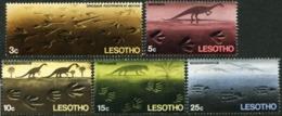 LESOTHO 1970 Footprints, Dinosaurs, Prehistorical Animals, Reptiles, Fauna MNH - Lesotho (1966-...)