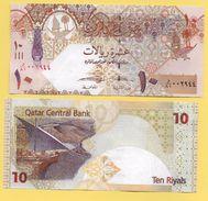 Qatar 10 Riyals P-30 2017  UNC - Qatar