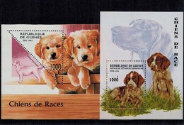 MDKH-29092017-05 MINT ¤ GUINEE 1996-1997 2xBLOCK ¤ HONDEN DOGS CHIENS - Chiens