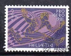 BIG - SVIZZERA 90 , 1981 : Posta Aerea Serie Unificato N. 48 Usata . - Usados