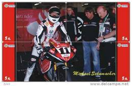 S04670 China Phone Cards Michael Schumacher Puzzle 4pcs - Sport