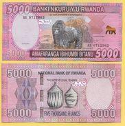 Rwanda 5000 Francs P-41 2014 UNC - Rwanda